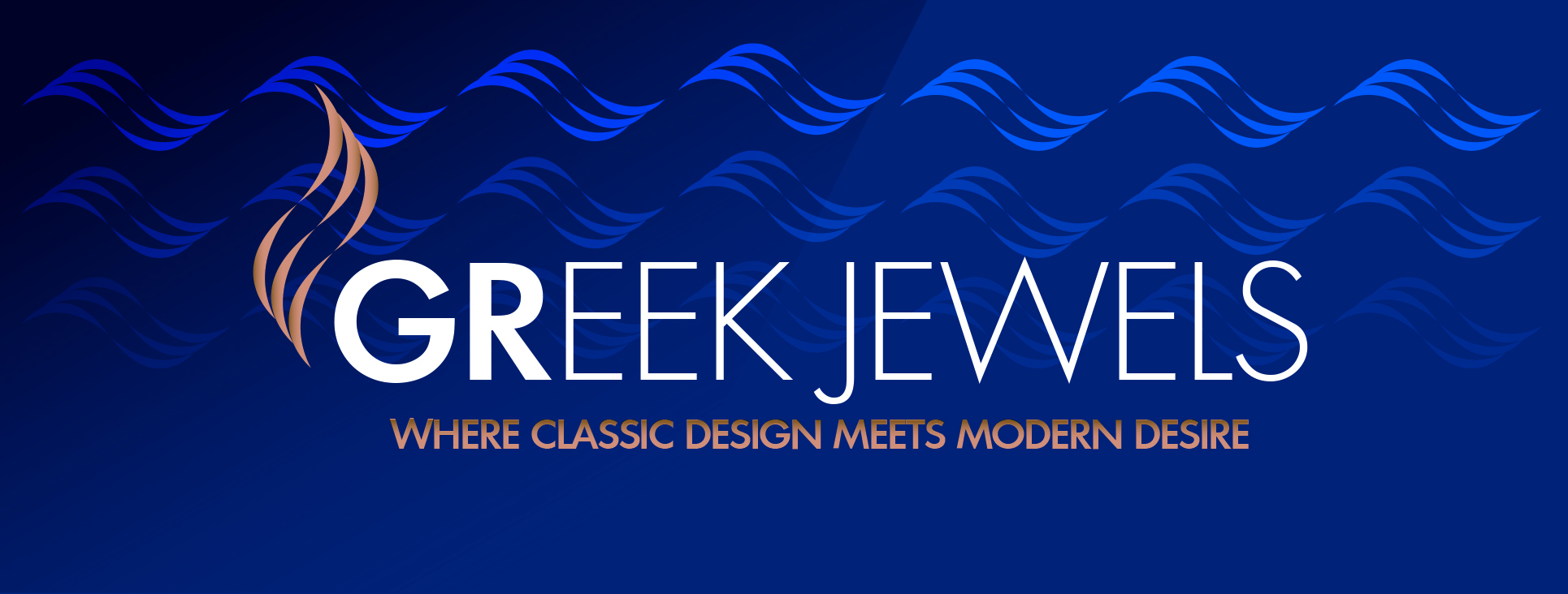 Greek Jewels Logo Blue