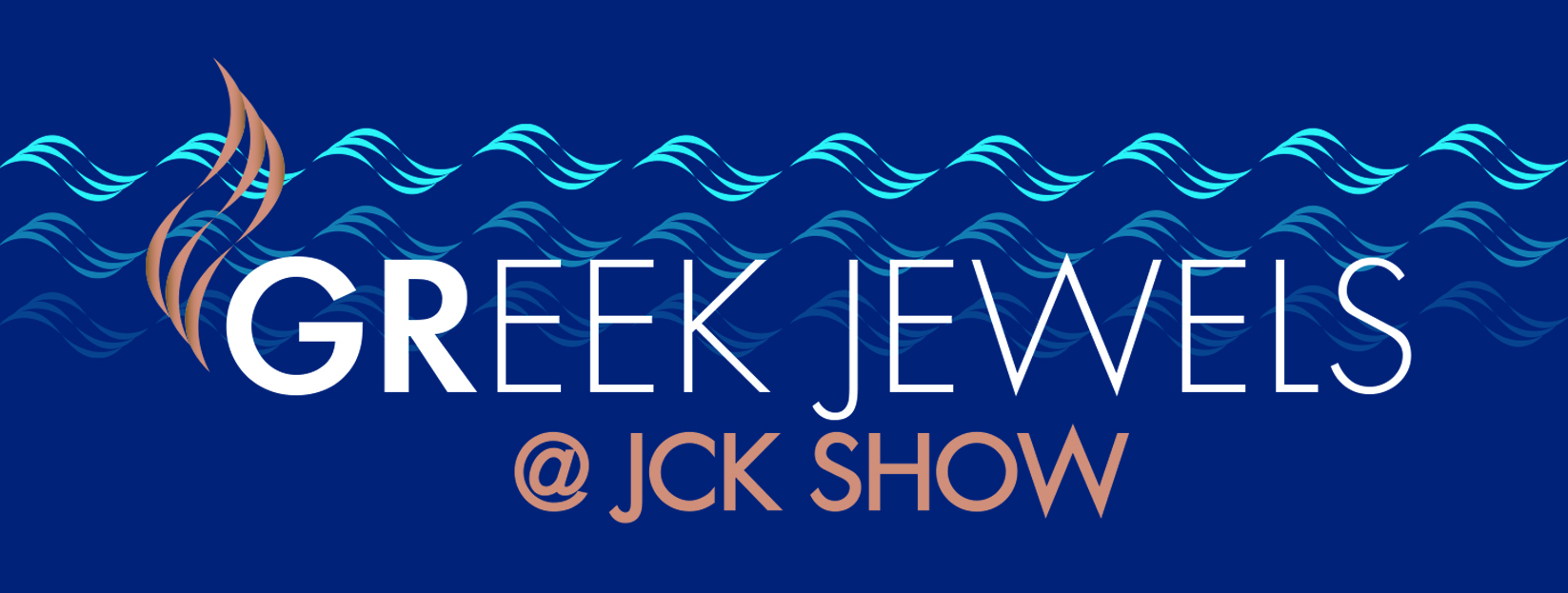Greek Jewels at JCK Logo Blue