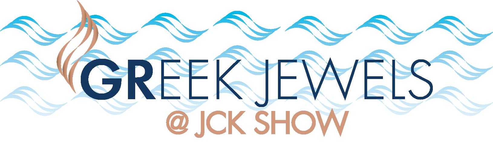 Greek Jewels at JCK Logo White