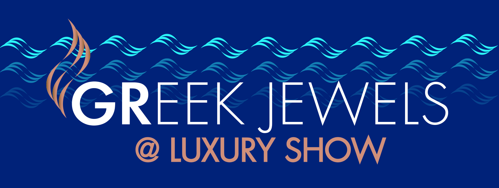 Greek Jewels at LUXURY Logo Blue