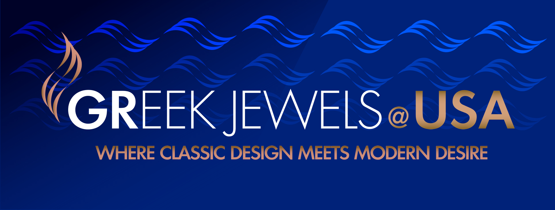 Greek Jewels at USA Logo Blue